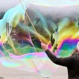 """Der """"Bubbleman"""" von Stinson Beach."""